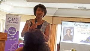 Tracey Wiley, Dir of SBSD of Virginia, at eWomen Network lunch